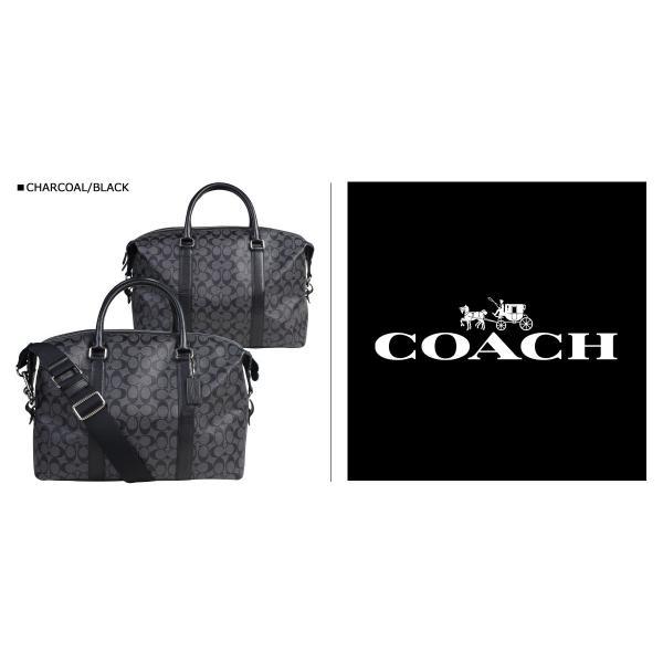 COACH コーチ バッグ ボストンバッグ メンズ ショルダーバッグ シグネチャー F54776 2WAY チャコール ブラック|sugaronlineshop|02