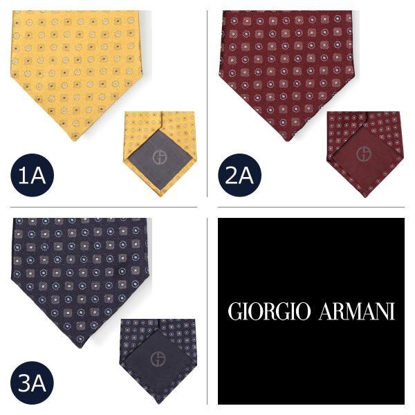 GIORGIO ARMANI ジョルジオ アルマーニ ネクタイ メンズ イタリア製 シルク ビジネス 結婚式 ブラック ワインレッド イエロー 黒 10/11 新入荷|sugaronlineshop|02
