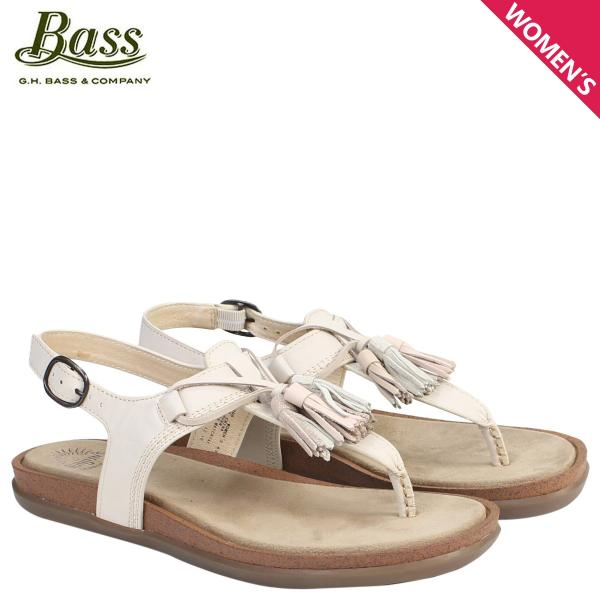 G.H.BASS サンダル レディース ジーエイチバス トング Tストラップ SADIE T-STRAP SUNJUNS 71-23000 靴 クリーム 6/22 新入荷