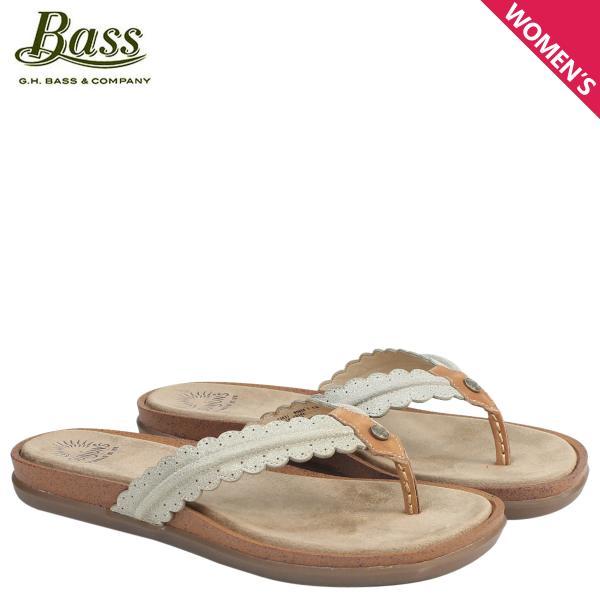 G.H.BASS サンダル レディース ジーエイチバス トング SAMANTHA SCALLOPED SUNJUNS 71-23031 靴 ブラウン 6/22 新入荷