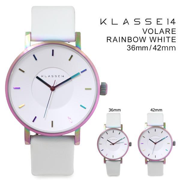 クラス14 メンズ KLASSE14 42mm 36mm レディース 腕時計 VOLARE RAINBOW WHITE ヴォラーレ VO16TI003M VO16TI003W