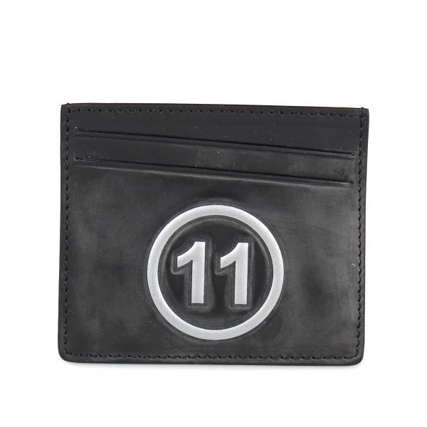 MAISON MARGIELA メゾンマルジェラ カードケース 名刺入れ 定期入れ メンズ レディース CARD CASE レザー ブラック 黒 S35UI0432 P0047 10/8 新入荷|sugaronlineshop