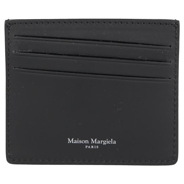 MAISON MARGIELA メゾンマルジェラ カードケース 名刺入れ 定期入れ メンズ レディース CARD CASE レザー ブラック 黒 S35UI0432 P0047 10/8 新入荷|sugaronlineshop|02