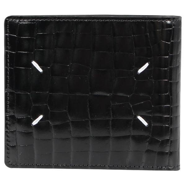 MAISON MARGIELA メゾンマルジェラ 財布 ミニ財布 二つ折り メンズ レディース MINI WALLET レザー ブラック 黒 S35UI0435 P0195 10/8 新入荷|sugaronlineshop|02