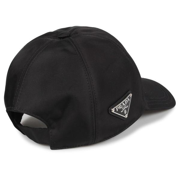 PRADA プラダ キャップ 帽子 ベースボールキャップ メンズ レディース BASEBALL CAP ブラック 黒 2HC2742B15 10/9 新入荷|sugaronlineshop|02