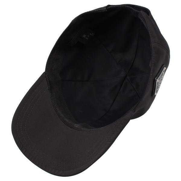 PRADA プラダ キャップ 帽子 ベースボールキャップ メンズ レディース BASEBALL CAP ブラック 黒 2HC2742B15 10/9 新入荷|sugaronlineshop|04