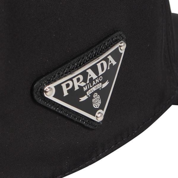 PRADA プラダ キャップ 帽子 ベースボールキャップ メンズ レディース BASEBALL CAP ブラック 黒 2HC2742B15 10/9 新入荷|sugaronlineshop|08