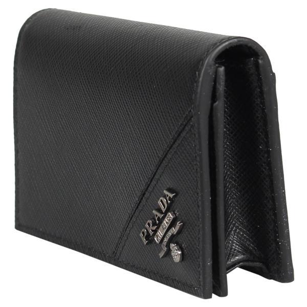 PRADA プラダ 名刺入れ カードケース カードホルダー メンズ サフィアーノ BUSINESS CARD HOLDER VOFTM ブラック 黒 2MC122QME 10/8 新入荷|sugaronlineshop|03