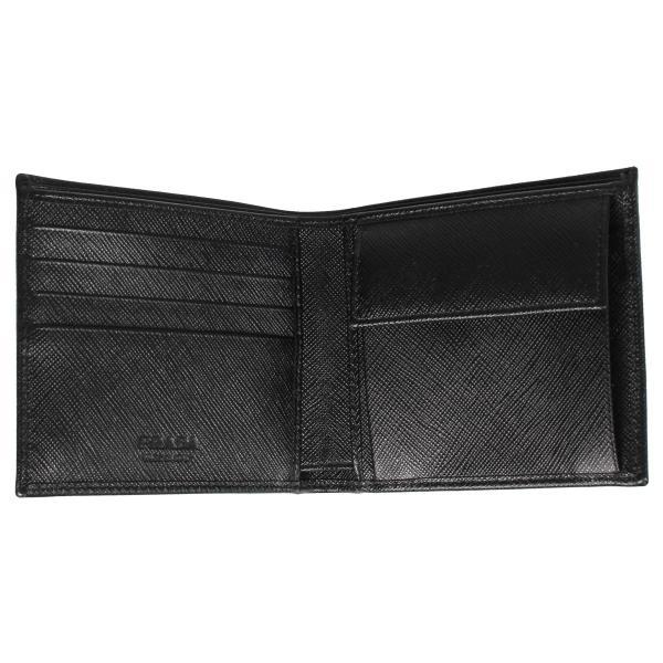 PRADA プラダ 財布 二つ折り メンズ サフィアーノ BIFOLD COIN POCKET ブラック 黒 2MO738QHH 10/8 新入荷|sugaronlineshop|05