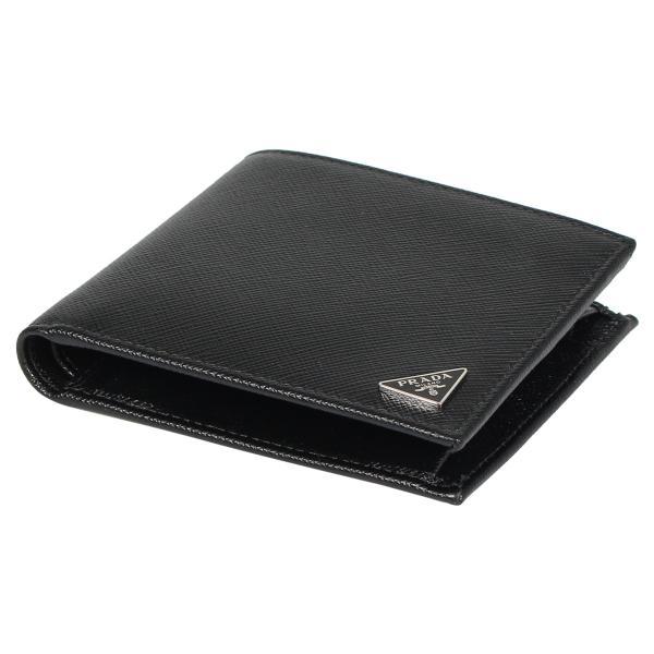 PRADA プラダ 財布 二つ折り メンズ サフィアーノ BIFOLD COIN POCKET ブラック 黒 2MO738QHH 10/8 新入荷|sugaronlineshop|07