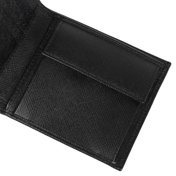 PRADA プラダ 財布 二つ折り メンズ サフィアーノ BIFOLD COIN POCKET ブラック 黒 2MO738QHH 10/8 新入荷|sugaronlineshop|10