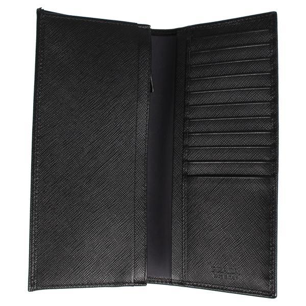 PRADA プラダ 財布 長財布 メンズ サフィアーノ VERTICAL WALLET ブラック 黒 2MV836QHH 10/8 新入荷|sugaronlineshop|05