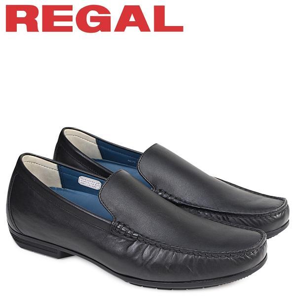 REGAL 靴 メンズ リーガル ヴァンプ 56HRAF ドライビングシューズ カジュアル ブラック 黒 10/19 再入荷|sugaronlineshop