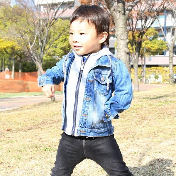 453c9f8d0bfd1 ... 男の子 アウター パーカー ジージャン Gジャン 一体型 春 秋 冬 韓国子供服 ポケット付 ...