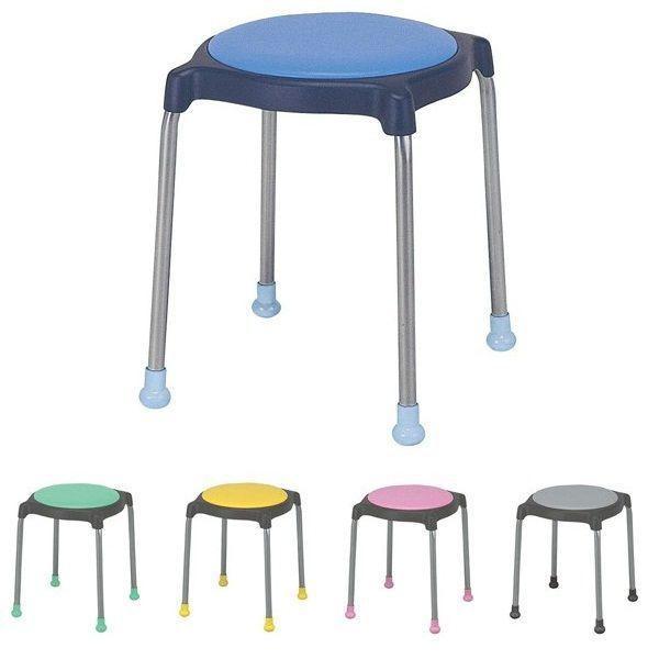 スツール 丸椅子 パイプイス 丸イス スタッキング収納 ビニールレザー張り キュポC 同色6脚セット 送料別 CUPPO-C sugihara 04
