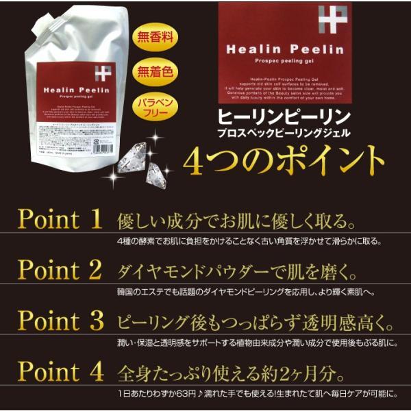 ピーリングジェル 380ml 角質取り ピーリング 角質除去 角質ケア 全身ピーリングジェル ヒーリンピーリン 薬用 弱酸性 デリケートゾーン 医薬部外品|suhada|04