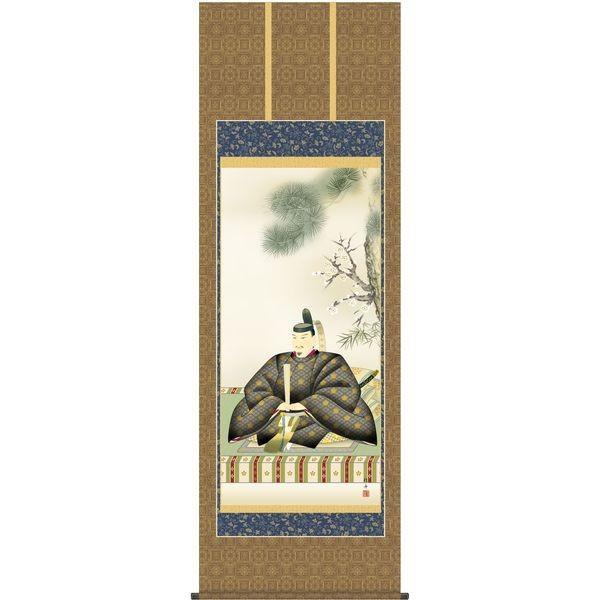 掛軸 三幸 天神第2集 天神様 尺八 T2C4-055 長江 桂舟 154791184