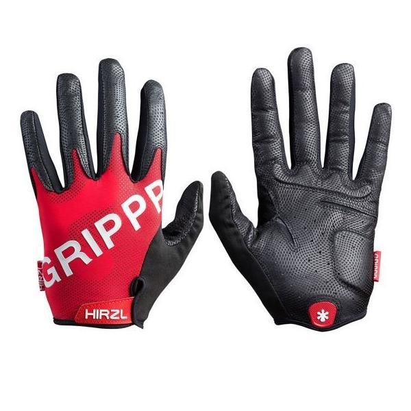 Hirzl Grippp Tour FF 2.0 Gloves Red ハーツェル グリップツアーフル2.0 フルフィンガー サイクル グローブ 並行輸入品 レッド suikaya9001