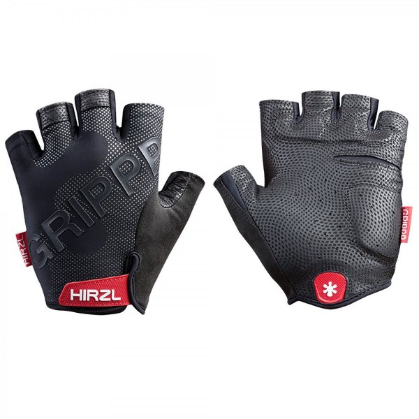 HIRZL ハーツェル Grippp Tour 2.0 Short Finger Gloves サイクルグローブ Black|suikaya9001