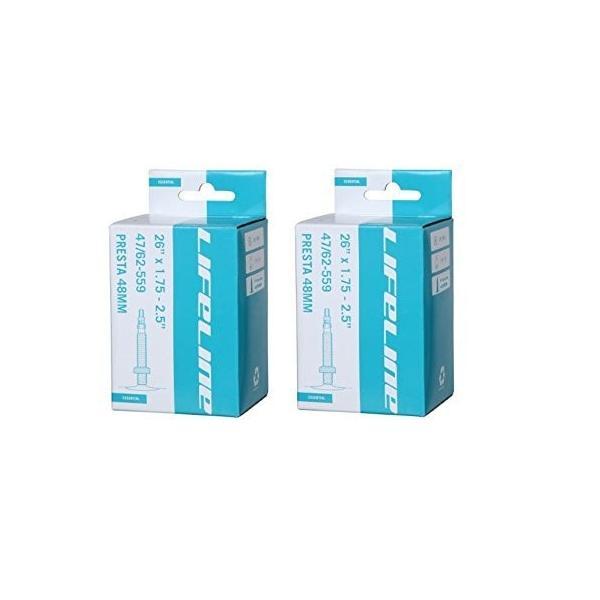 2本セット LifeLine MTB チューブ 26 x 1.75/2.5 ETRTO 47/62-559 仏式48mm 並行輸入品|suikaya9001