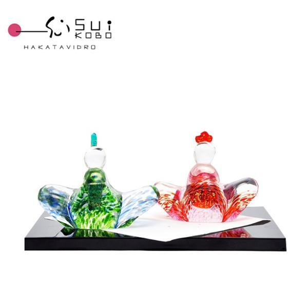 端午の節句3月3日はガラス細工のひな人形職人が工房で手作り正真正銘のmade in japan