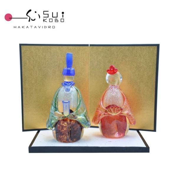 粋工房ガラスのお雛様 2017年新作ひな祭りにはぜひガラス細工のお雛様!