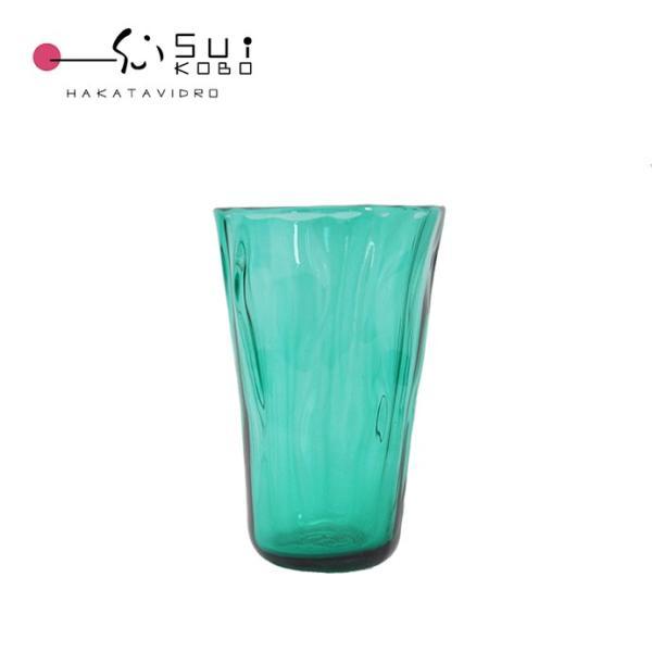 博多びーどろ粋工房 森田菜生作 大島翡翠 グラス 贈答品 ギフト お祝い ガラス