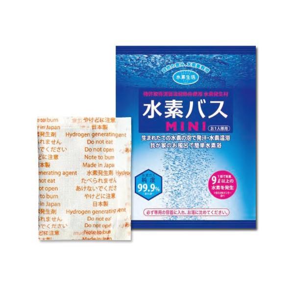 送料無料 水素水 水素 風呂 水素入浴剤 水素バスミニ 5回お試しセット+専用ケース(おひとり様1回限り) おひとり様、少人数のご家庭にぴったり|suisoseikatsu|02