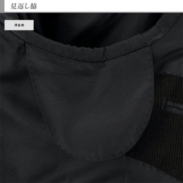 ジャケット メンズ ビジネス テーラード 黒 シャドー ストライプ コール天 ストレッチ 2019 新作 秋冬 2J7C33-20|suit-depot|11