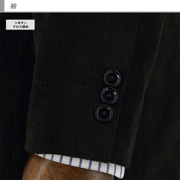 ジャケット メンズ ビジネス テーラード 黒 シャドー ストライプ コール天 ストレッチ 2019 新作 秋冬 2J7C33-20|suit-depot|06