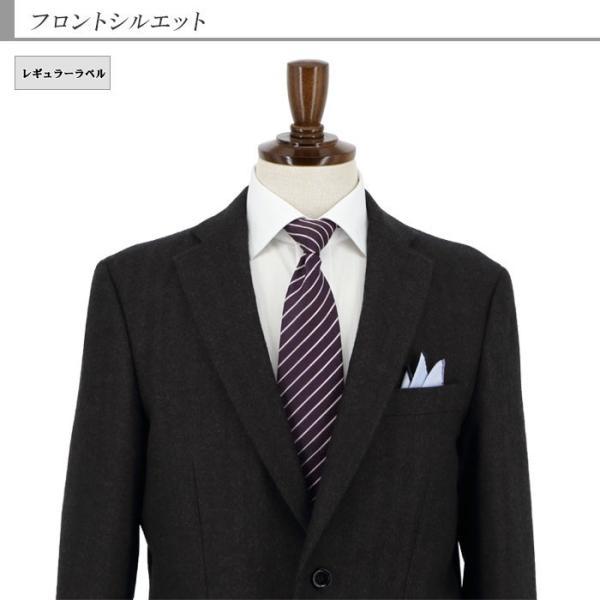 ジャケット メンズ ビジネス テーラード 大きいサイズ E体 茶 シャドー ストライプ ヘリンボン 2019 新作 秋冬 2J7C36-25 suit-depot 05