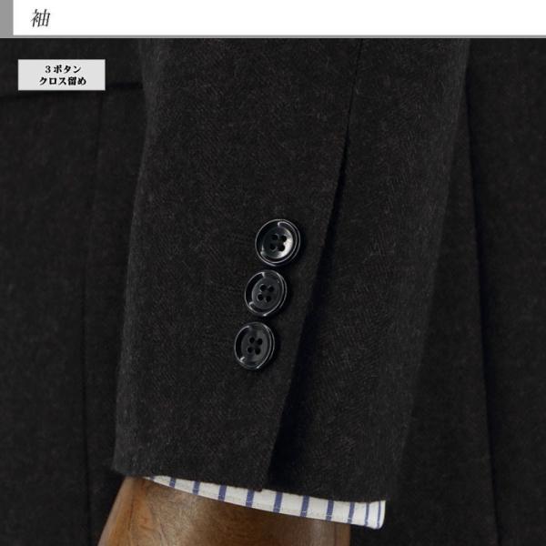 ジャケット メンズ ビジネス テーラード 大きいサイズ E体 茶 シャドー ストライプ ヘリンボン 2019 新作 秋冬 2J7C36-25 suit-depot 06