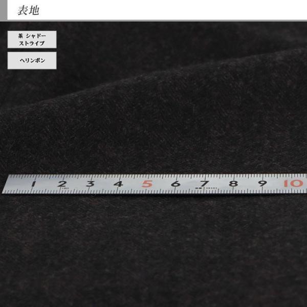 ジャケット メンズ ビジネス テーラード 大きいサイズ E体 茶 シャドー ストライプ ヘリンボン 2019 新作 秋冬 2J7C36-25 suit-depot 08