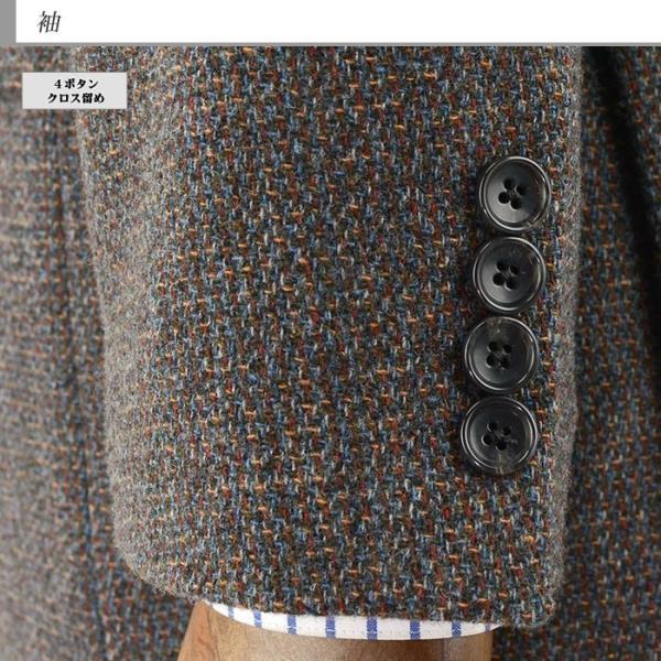 ジャケット メンズ ビジネス テーラード 茶杢 ツイード 秋冬 2Q7035-35|suit-depot|03