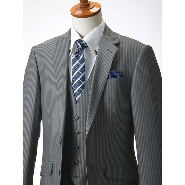 スリーピーススーツ メンズ ビジネススーツ 2ツボタン スリム 秋冬 洗えるパンツウォッシャブル suit|suit-style|18