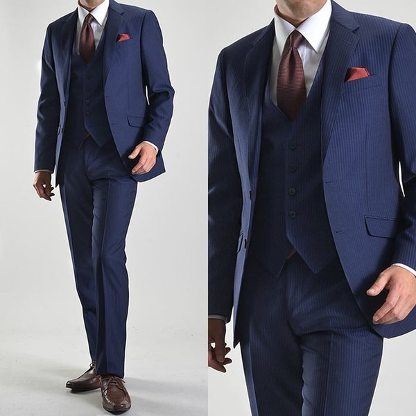 スリーピーススーツ メンズ ビジネススーツ 2ツボタン スリム 秋冬 洗えるパンツウォッシャブル suit|suit-style|21