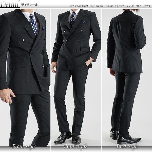ダブルスーツ 秋冬物 モードスタイル 6ボタン メンズスーツ ビジネススーツ スリムスーツ ストレッチ素材 送料無料 セール特価|suit-style|03