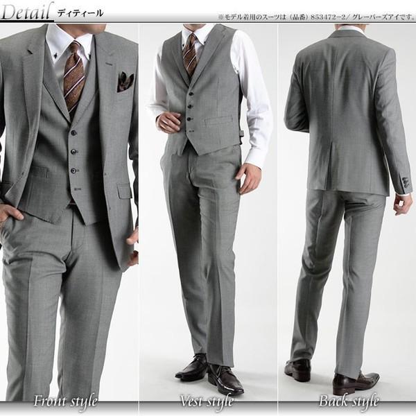 2ツボタン スリーピーススーツ スリム 細身 ナチュラルストレッチ 秋冬 メンズスーツ スリムスーツ ビジネススーツ ベスト 送料無料 セール特価|suit-style|05