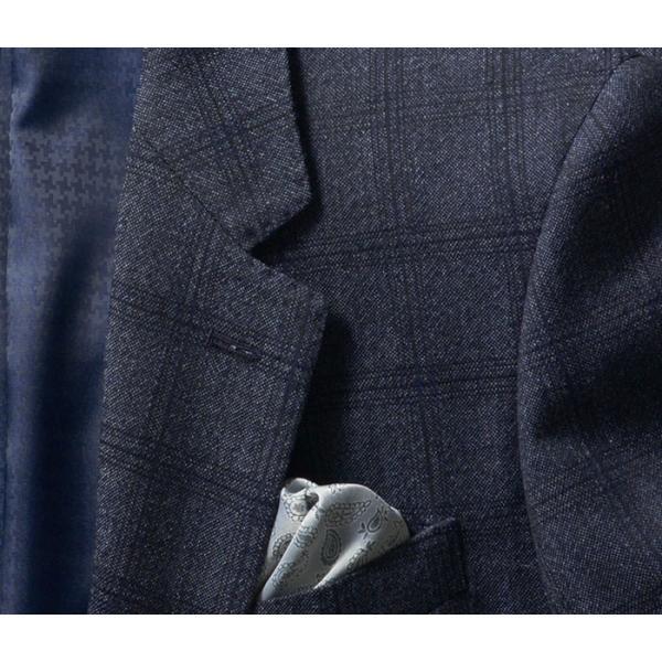 ビジネススーツ メンズ ウール100%サキソニー素材 2ツボタンスリーピーススーツ スリム 3ピース ベスト スーパーファインウール|suit-style|11