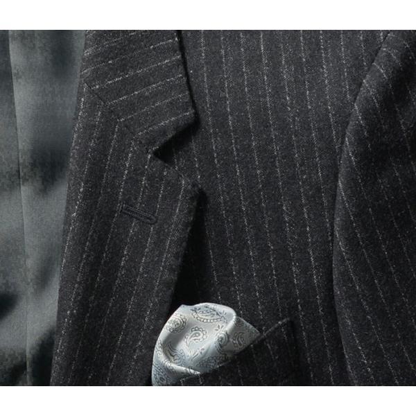 ビジネススーツ メンズ ウール100%サキソニー素材 2ツボタンスリーピーススーツ スリム 3ピース ベスト スーパーファインウール|suit-style|14