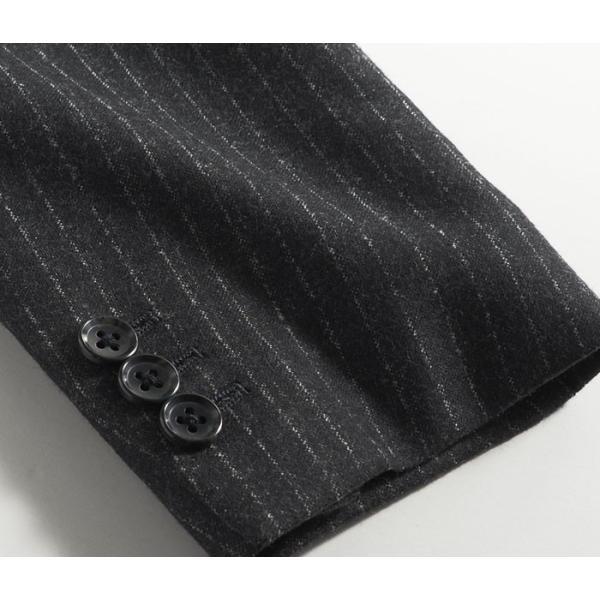 ビジネススーツ メンズ ウール100%サキソニー素材 2ツボタンスリーピーススーツ スリム 3ピース ベスト スーパーファインウール|suit-style|15