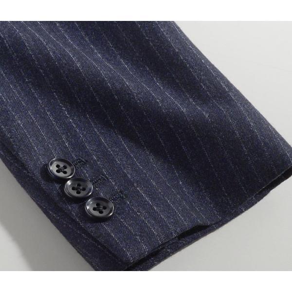 ビジネススーツ メンズ ウール100%サキソニー素材 2ツボタンスリーピーススーツ スリム 3ピース ベスト スーパーファインウール|suit-style|18