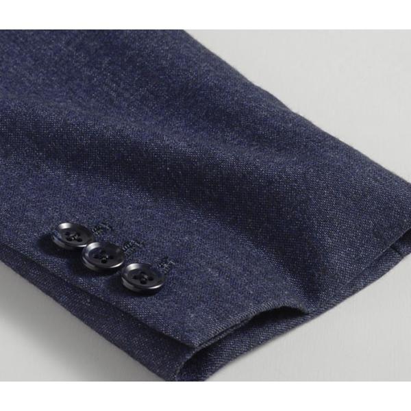 ビジネススーツ メンズ ウール100%サキソニー素材 2ツボタンスリーピーススーツ スリム 3ピース ベスト スーパーファインウール|suit-style|21