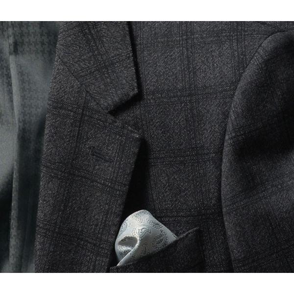 ビジネススーツ メンズ ウール100%サキソニー素材 2ツボタンスリーピーススーツ スリム 3ピース ベスト スーパーファインウール|suit-style|08