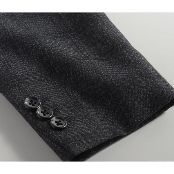 ビジネススーツ メンズ ウール100%サキソニー素材 2ツボタンスリーピーススーツ スリム 3ピース ベスト スーパーファインウール|suit-style|09