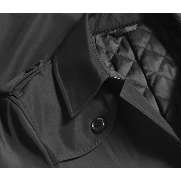 ビジネスコート ボンディング素材 シングルトレンチコート メンズ 撥水加工 スーツコート ブラック suit-style 11