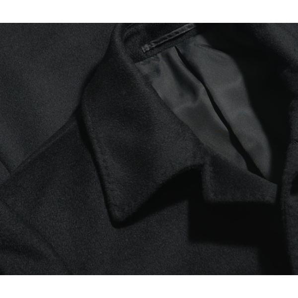 カシミヤ混ウール素材 シングルステンカラーコート ビジネス ブラック 黒 グレー 灰色 メンズ コート【送料無料】|suit-style|11