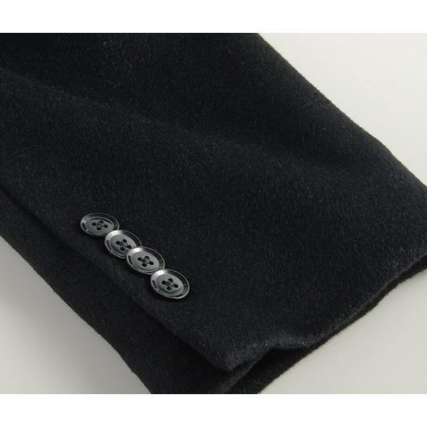 カシミヤ混ウール素材 シングルステンカラーコート ビジネス ブラック 黒 グレー 灰色 メンズ コート【送料無料】|suit-style|12