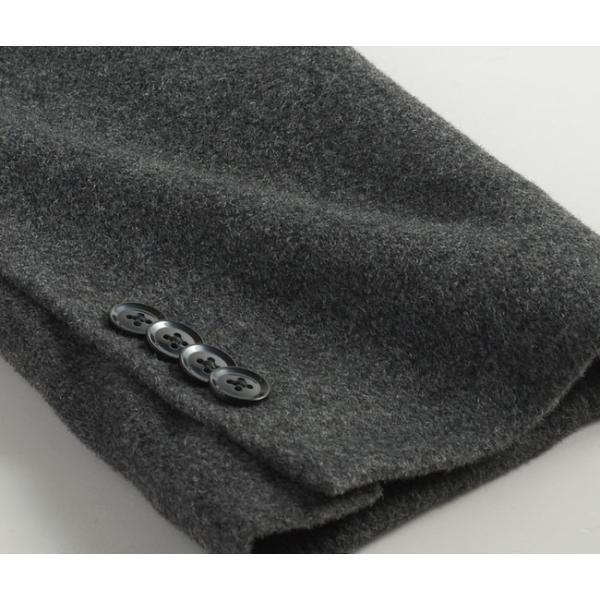 カシミヤ混ウール素材 シングルステンカラーコート ビジネス ブラック 黒 グレー 灰色 メンズ コート【送料無料】|suit-style|18