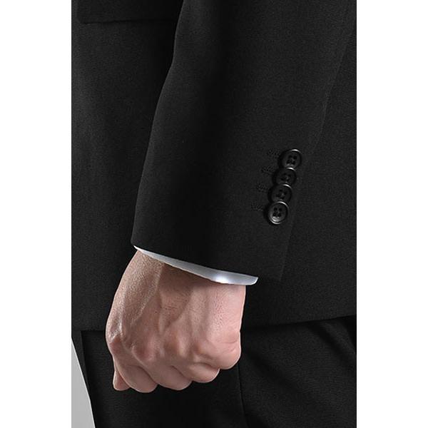 フォーマルスーツ 礼服 メンズ 2ツボタン 結婚式 アジャスター付 ブラック 黒 スリムスーツ ブラックフォーマル 激安 suit|suit-style|11